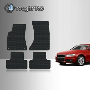 Toughpro Heavy Duty Black Rubber Custom Fit For 2009 2015 Audi A4 S4 Floor Mats