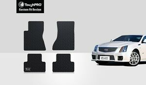 Toughpro Floor Mats Black For Cadillac Cts All Weather Custom Fit 2008 2013
