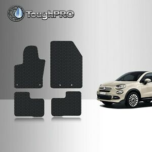 Toughpro Black Rubber Heavy Duty Custom For 2016 2019 Fiat 500x Floor Mats
