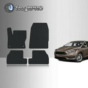 Toughpro Floor Mats Black For Ford Focus All Weather Custom Fit 2012 2018