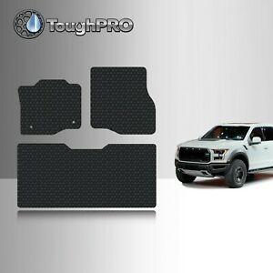 Toughpro Floor Mats Black For Ford F 150 Crew Cab All Weather 2015 2022