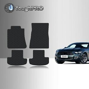 Toughpro Floor Mats Black For Ford Mustang All Weather Custom Fit 2015 2020