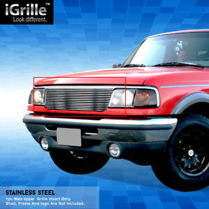 Egrille Fit 1993 1997 Ford Ranger 2wd Stainless Steel Billet Grille Grill Insert