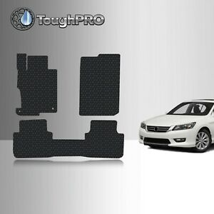 Toughpro Heavy Duty Black Rubber Custom For 2013 2017 Honda Accord Floor Mats