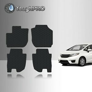 Toughpro Heavy Duty Black Rubber Custom For 2015 2019 Honda Fit Floor Mats