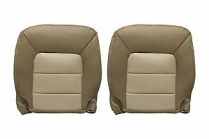 2005 2006 Ford Expedition Eddie Bauer Driver Passenger Botom Leather Cover Tan