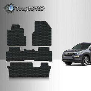 Toughpro Heavy Duty Black Rubber For 2009 2015 Honda Pilot 3rd Row Floor Mats