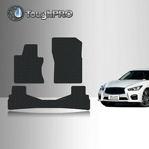 Toughpro Floor Mats Black For Infiniti Q50 All Weather Custom Fit 2014 2020