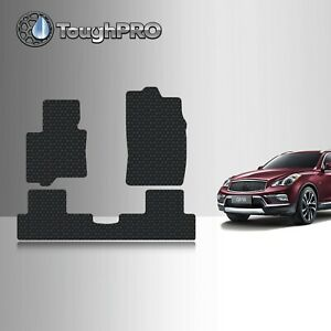 Toughpro Heavy Duty Black Rubber Custom For 2016 2017 Infiniti Qx50 Floor Mats
