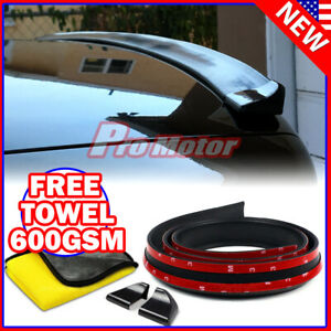 Universal Spoiler Trunk Roof Lip Sporty Wing Chin Rubber Roll Side Molding Skirt