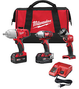 Milwaukee M18 Cordless 1 2 And 3 8 Drive Impact Wrench Combo Kit 2696 23