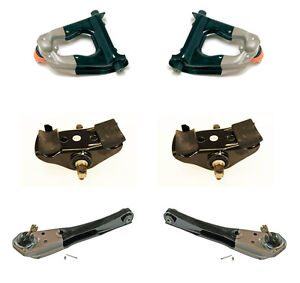 1967 Mustang Deluxe 6 Pc Suspension Kit Upper Lower Control Arms Spring Saddles