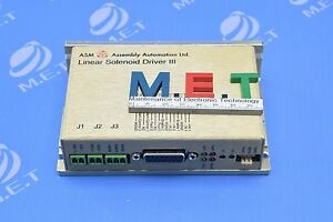 Asm Linear Solenoid Driver Iii 02 16386 08 02 16386 08 Expedited Shipping