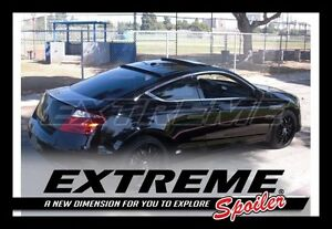 Extreme Combo Unpainted Trunk Roof Spoiler For Honda Accord 2008 2012 Coupe