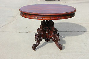 Magnificent Thomas Brooks Solid Walnut Large Victorian Center Table Ca 1870