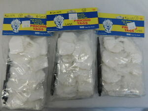 String Tags New In Package Pricing S L Xl 10 Bags Of 1000 Jewelry 10 000 Tags