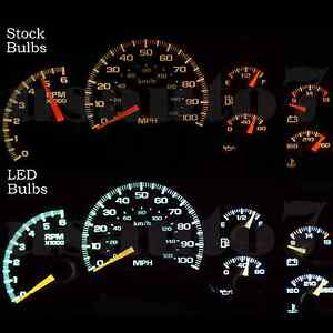 Dash Cluster Gauge White Smd Led Lights Kit Fits 99 02 Chevy Silverado 1500 2500