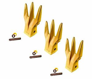 3 Mini Excavator Backhoe Bucket Trident Rock Teeth W Pin Ret 1u3202tr3