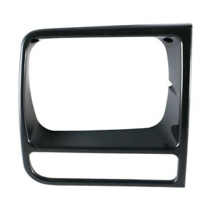 Front Passenger Side Rh Grille Headlamp Door Bezel For 97 01 Jeep Cherokee Black