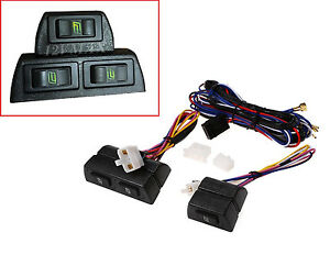 Universal Electric Power Window Switch Kit For 2 Door Conversion 3 Switch