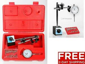 New Dial Indicator Magnetic Base Point Precision Inspection Set 2 day Shipping