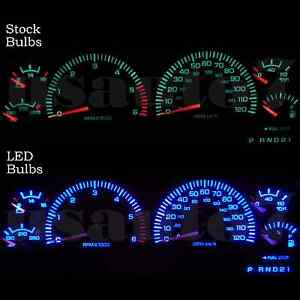 Dash Cluster Gauges Aqua Blue Smd Leds Lights Kit Fits 98 01 Dodge Ram 1500 2500