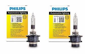 2x Authentic Philips D4r Hid Upgrade Xenon Bright White 200 More Light Bulb Oem