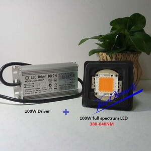 100w Led Driver Waterproof 100w Full Spectrum Led Grow Chip 380 840nm Diy