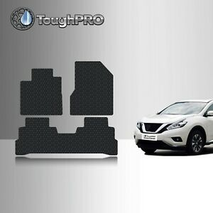 Toughpro Heavy Duty Black Rubber Custom For 2015 2019 Nissan Murano Floor Mats