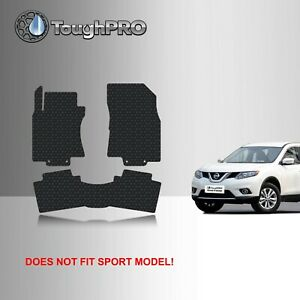 Toughpro Heavy Duty Black Rubber Custom For 2014 2019 Nissan Rogue Floor Mats