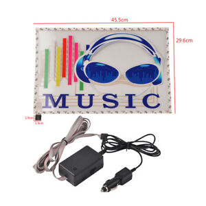 Car Stickers Sound Music Activated Sensor Multi Color Led Equalizer Glow 45 29cm