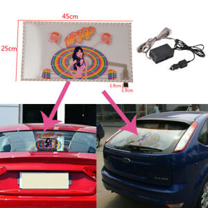 45x25cm Car Sticker Music Rhythm Led Flash Light Lamp Sound Activated Equalizer