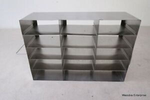 Stainless Steel Laboratory Cryo Storage Freezer Rack Cryogenic 16 5 x5 5 x11