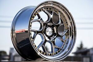 19x9 5 19x10 5 Aodhan 5x120 Ds1 25 Vacuum Chrome Wheels Staggered Set Of 4