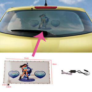 51x30cm Sound Music Activated Sensor Car Sticker Led Light Equalizer Glow 200h