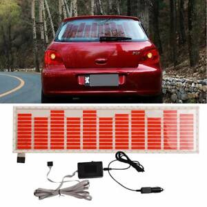 45 11cm Red Car Sticker Music Rhythm Led Flash Lamp Sound Activated Equalizer