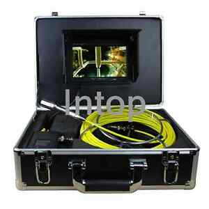 7 30m 100ft Drain Sewer Waterproof Camera Pipe Pipeline Snake Inspection System