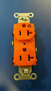 Box Of 10 hubbell Ig20cr Duplex Receptacle Orange 20a 125v 5 20r Isolated Ground
