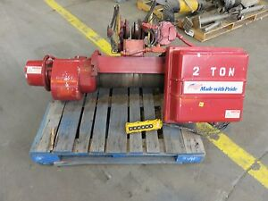 Acco Wright American Electric Wire Rope Hoist 2 Ton 3 Phase 15 Fpm 23 Ft