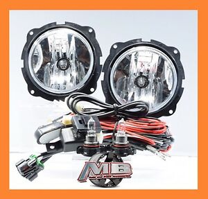 For 2007 2012 Ford Escape Fog Lights Chrome Clear Lamp Wiring Harness Switch