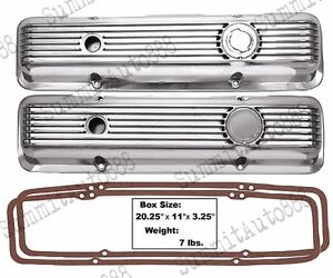 Camaro Chevelle Nova Valve Covers Polished Aluminum W Gaskets Small Block Lt1