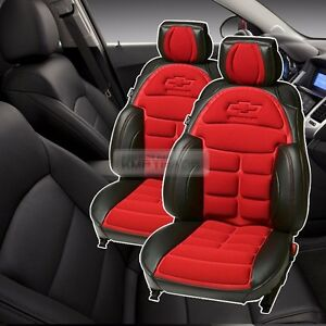 Bowtie Emblem Logo Bucket Seat Cushion Cover 2seat For Chevrolet 2006 2011 Epica