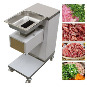 Stainless Commercial Meat Slicer Meat Cutting Machine Cutter Easy Clean usps