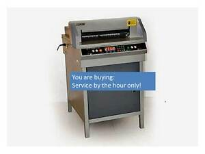 Electric Paper Cutter Non Refundable Service Support And Manual 450 4605 4806