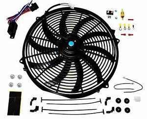 A Team 16 Inch Electric Radiator Cooling Fan 12v 3000cfm Relay Thermostat Kit