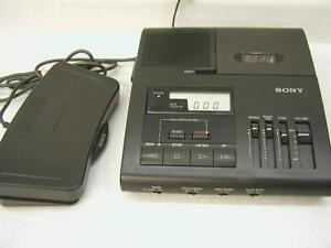Sony Bm 840 Microcassette Transcriber Ac Pedal New Headset Warranty