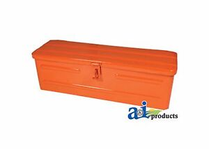 New Orange Metal Tool Box For Kioti Kubota Allis Chalmers Tractor 5a3or