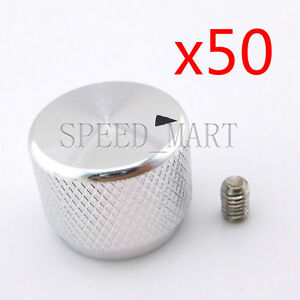 50 Pcs High Precision Full Aluminum Knurled Knob Ser Screw For Cd Player White