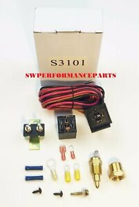 Electric Fan Wire Harness Kit Complete Thermostat 50 Amp Relay 200 Wiring S3101