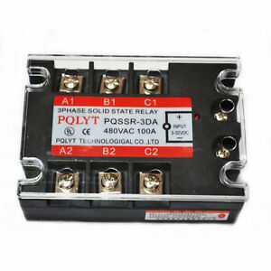 Three Phase 3phase Dc Ac Solid State Relay Ssr 100a 100a Top Quality